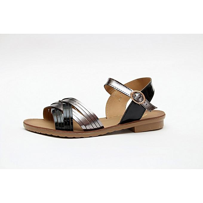 93cfeeec369e White Label Sandale Plates 410 - Noir - Argent à prix pas cher ...
