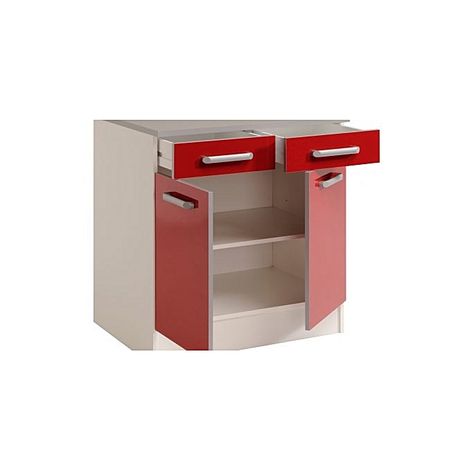 meuble de cuisine element de rangement rouge meubles de cuisine pas cher sur jumia tunisie. Black Bedroom Furniture Sets. Home Design Ideas