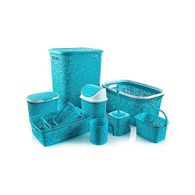 S rie salle de bain 10 pi ces couleur bleu ciel - Salle de bain bleu ciel ...