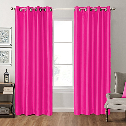 White Label Rideau Satin Black Out Rose Fushia 3m à Prix Pas