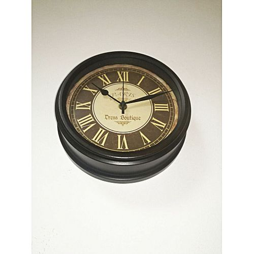 horloge murale vintage romain noir horloges murales pas cher sur jumia tunisie. Black Bedroom Furniture Sets. Home Design Ideas