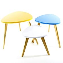 Série De 3 Tables Scandinaves   47 * 38 * 32 Cm   Blanc U0026amp;