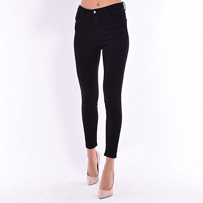 d5997401aa062 Chill   Lit Jean - Skinny - Taille Haute - Noir pas cher   Black ...