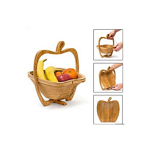 white label corbeille fruits planche pliable en bois de bambou pas cher jumia tn. Black Bedroom Furniture Sets. Home Design Ideas