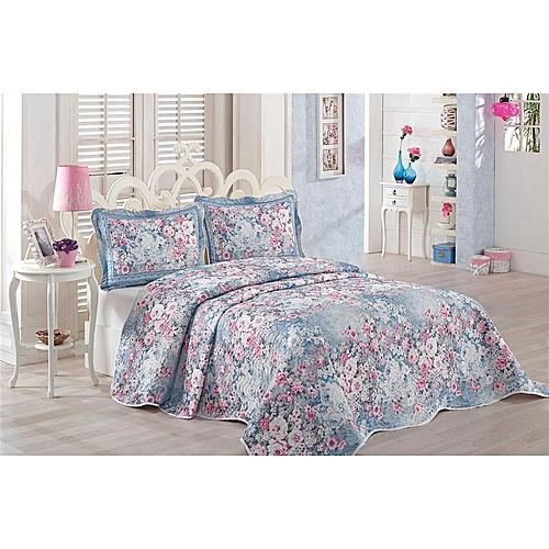 couvre lit matelass 3 pi ces floral dessus de lit pas cher sur jumia tunisie. Black Bedroom Furniture Sets. Home Design Ideas