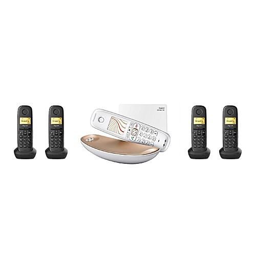 siemens mini standard t l phonique 5 combin s sans fil gigaset cl750 4 x a150h pas cher. Black Bedroom Furniture Sets. Home Design Ideas