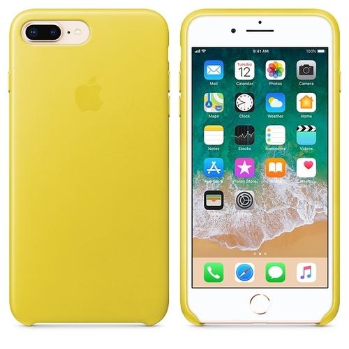 coque iphone 7 cuir jaune