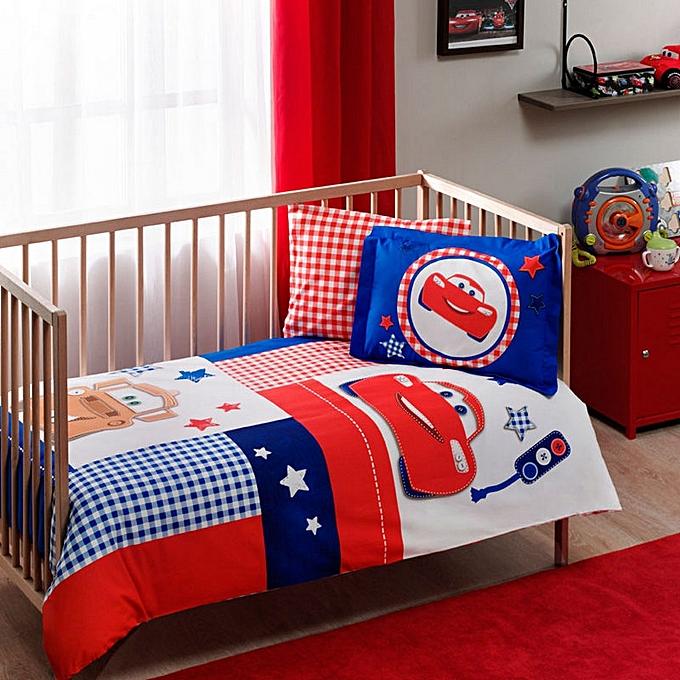 tac parure de lit bebe disney cars patchwork pas cher jumia tunisie. Black Bedroom Furniture Sets. Home Design Ideas