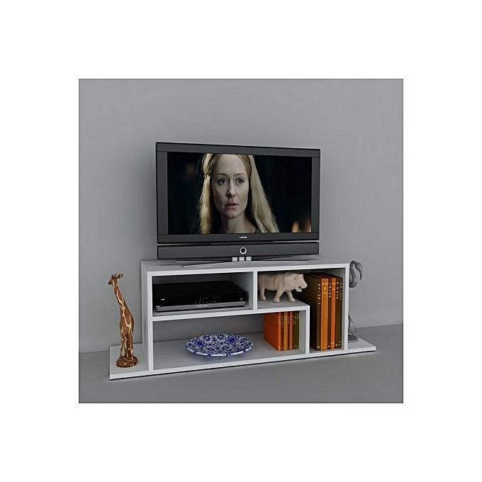 white label meuble tv 120 55 35 cm blanc prix pas cher jumia tunisie. Black Bedroom Furniture Sets. Home Design Ideas