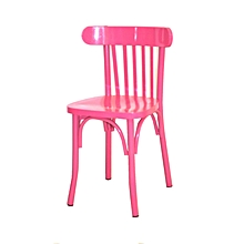 Chaise Bistrot Petit Paris Laque Rose Fushia