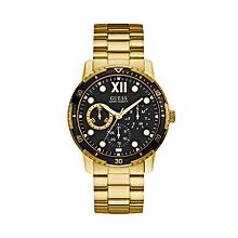 Montre homme   montre bracelet, cuir, en or, silver de grandes ... 16765c9bec01