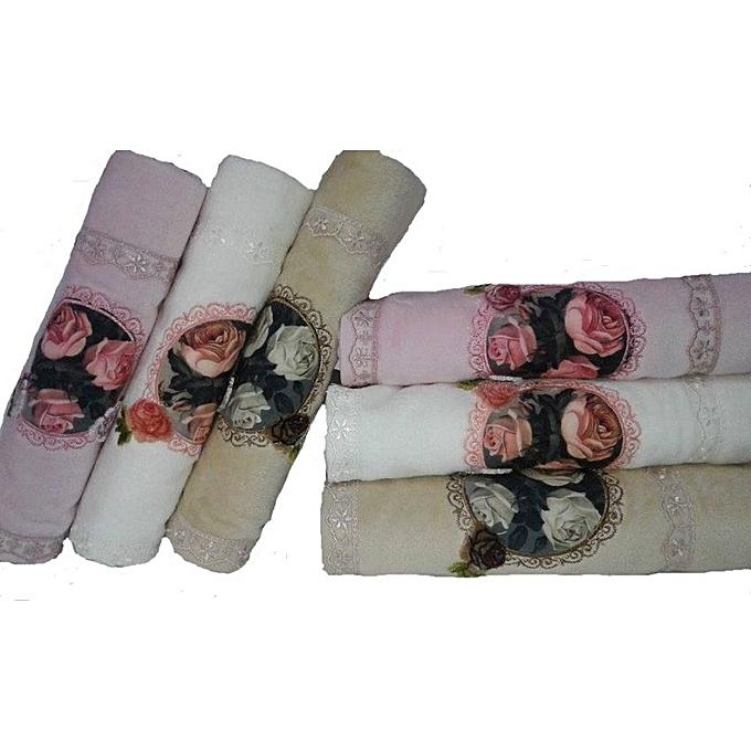 Lot de 6 serviettes 3d 90x50 serviettes de bain pas for Bain vapeur visage maison