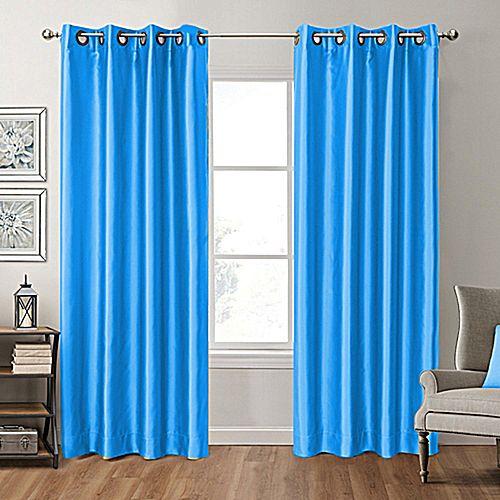 rideau satin effet black out bleu turquoise 4m rideaux draperies pas cher sur jumia tunisie. Black Bedroom Furniture Sets. Home Design Ideas