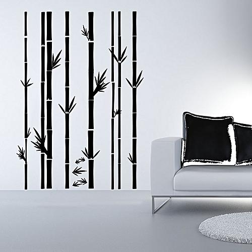 Sticker Mural Bambous   Noire   50*90 Cm