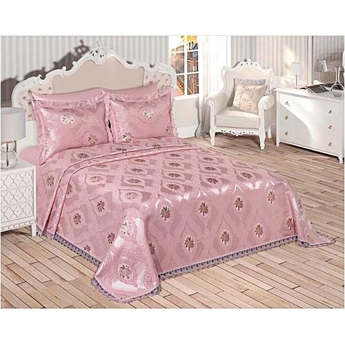 white label couvre lit arzu 260 260 rose pas cher jumia tunisie. Black Bedroom Furniture Sets. Home Design Ideas