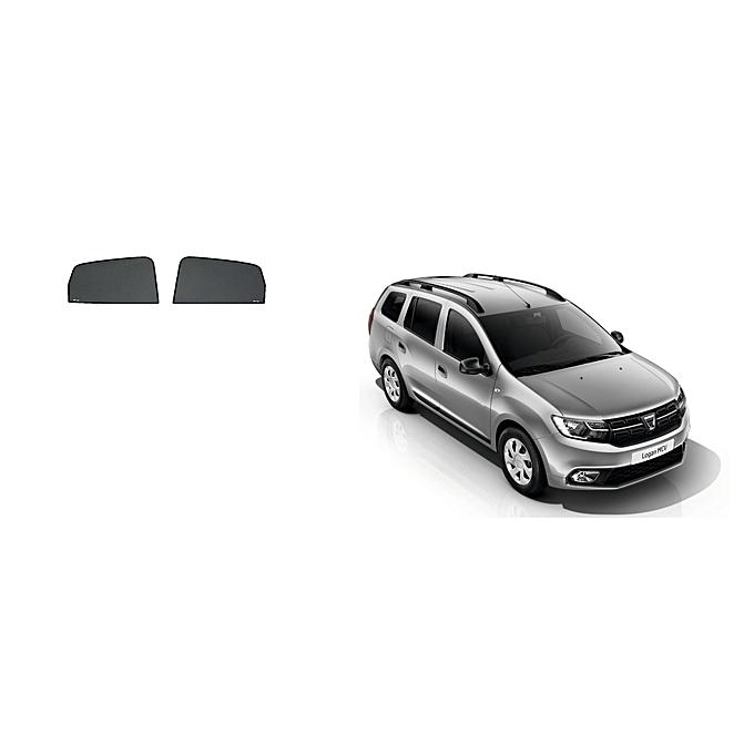 white label rideaux sur mesure pour voiture dacia logan mcv 2017 2 vitres avant pas cher black. Black Bedroom Furniture Sets. Home Design Ideas