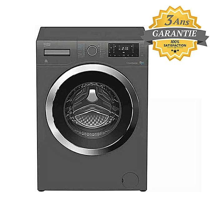 beko machine a laver 8 kg 1400 tours mn silver garantie 3 ans pas cher jumia tn. Black Bedroom Furniture Sets. Home Design Ideas