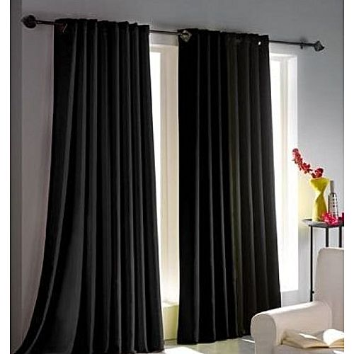 rideau satin effet black out noir 3m rideaux draperies pas cher sur jumia tunisie. Black Bedroom Furniture Sets. Home Design Ideas