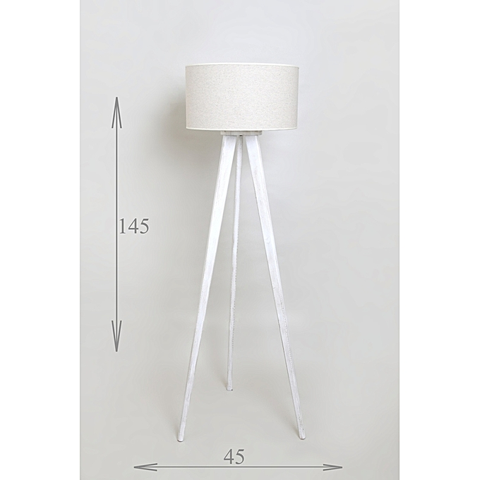 white label lampadaire scandinave tr pied blanc en patine dore prix pas cher jumia tunisie. Black Bedroom Furniture Sets. Home Design Ideas