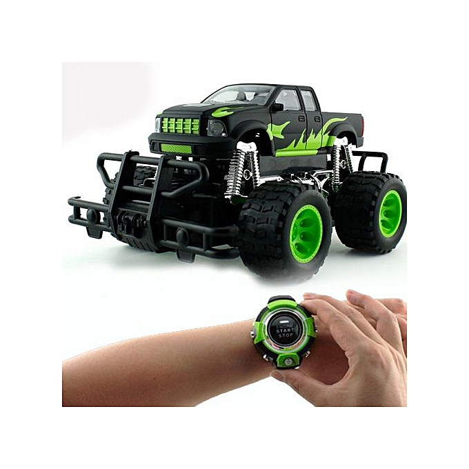 voiture t l command e par smartwatch noir vert jeux jouets pas cher sur jumia tunisie. Black Bedroom Furniture Sets. Home Design Ideas
