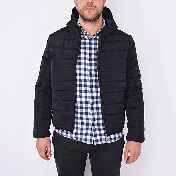 cf4ea7fc7dbd White Label Doudoune courte à capuche zippée - Homme - Noir à prix ...