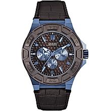 Montre homme   montre bracelet, cuir, en or, silver de grandes ... 04e94997a3e