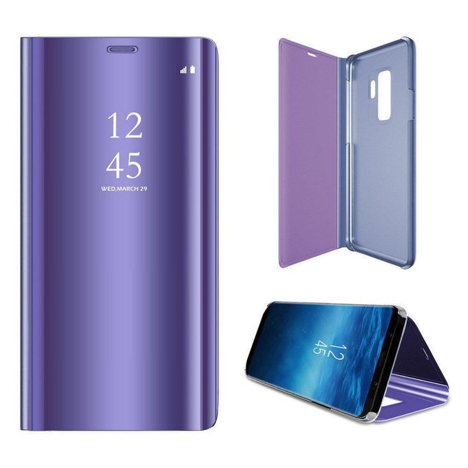 White Label Mirror Flip Cover S View Huawei Y9 2019 Purple A
