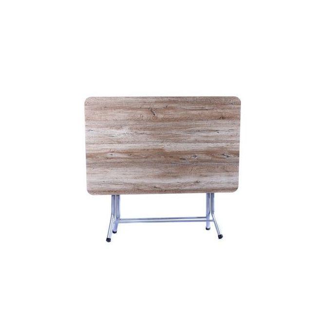 White Label Table Pliante 120 90 Melamine 120 90 Cm Chene