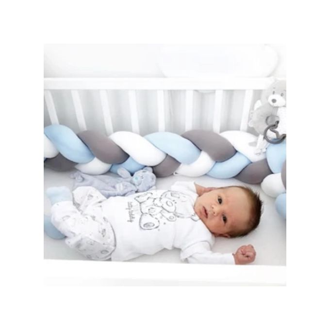 Tour de lit tressé - Contour de lit tressé - Landau - Protecteur bébé