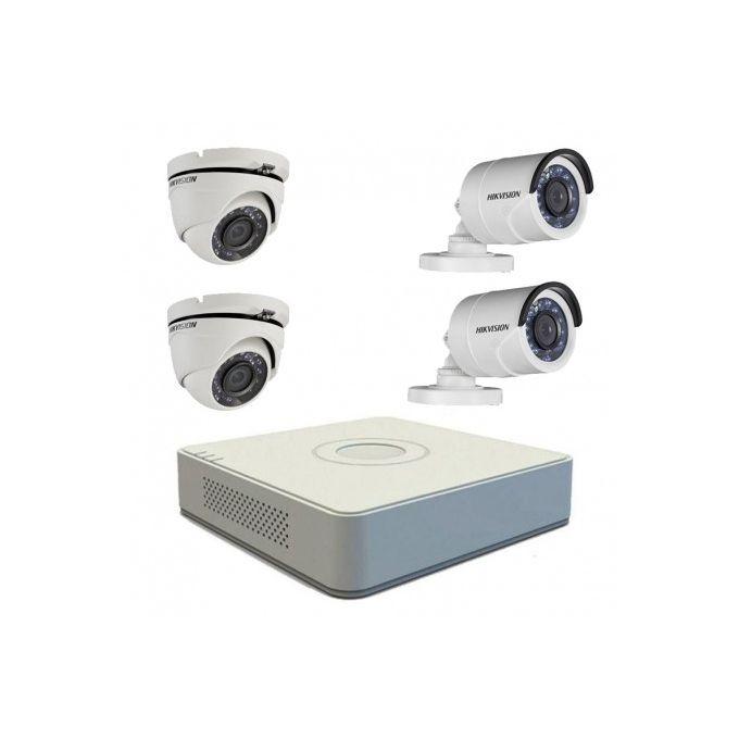 Hikvision Kit Des 4 Cameras De Surveillance 1 Mega Pixel
