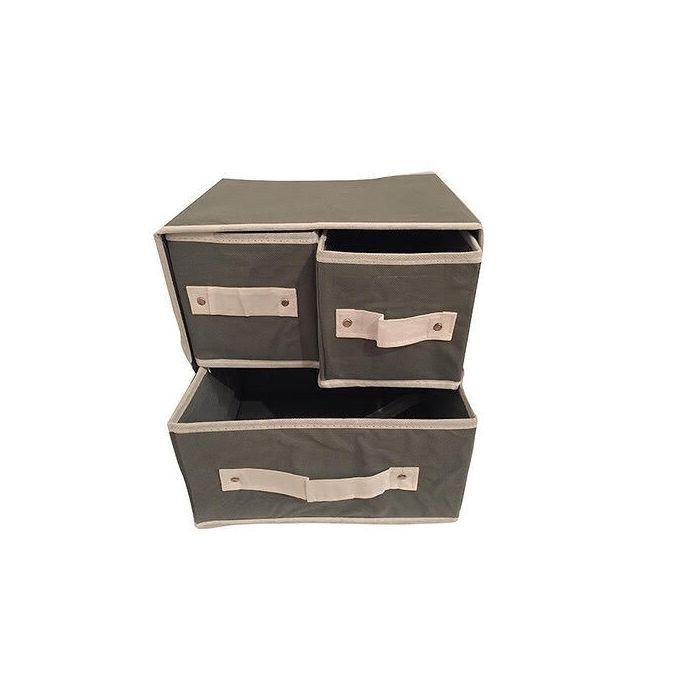 Sans Marque Boite De Rangement Cube 3 Tiroirs Gris 28 X 23 X 29 Cm A Prix Pas Cher Jumia Tunisie