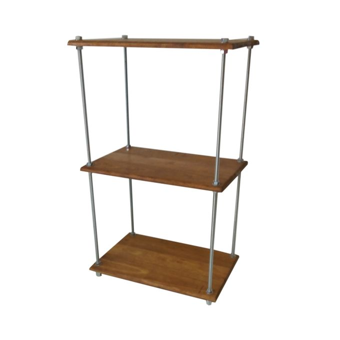 White Label Etagere En Bois Et Tiges Filetees 60x38x100 Cm Noble