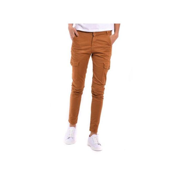 grand choix de images détaillées prix raisonnable Pantalon - Cargo - Marron - Coton - Femme