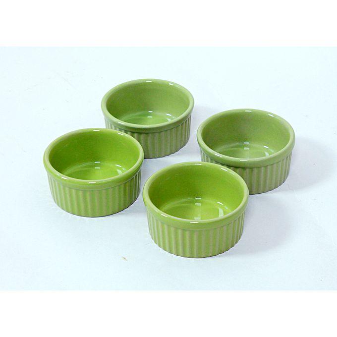 Ensemble de 4 ramequin en c ramique vert jumia tunisie - Ceramique cuisine tunisie ...