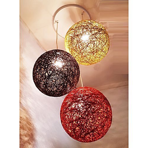suspension 3 boules rouge marron jaune jumia tunisie. Black Bedroom Furniture Sets. Home Design Ideas