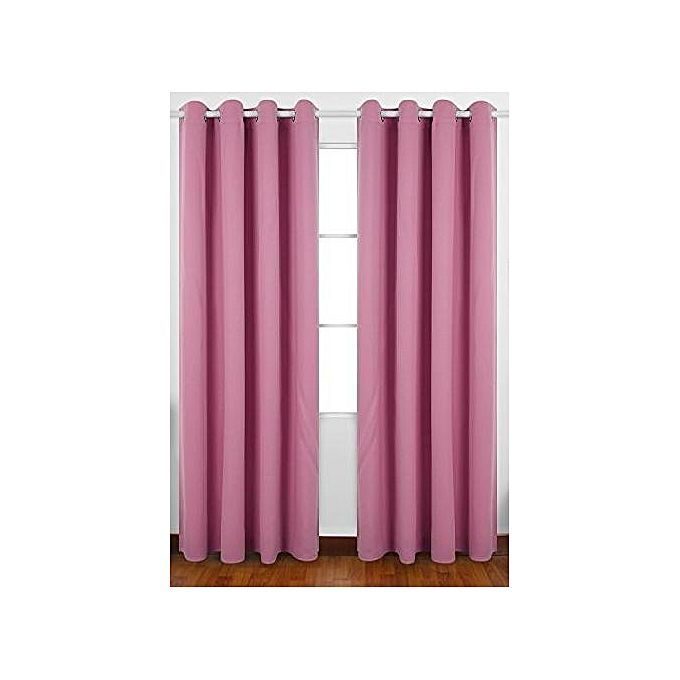 rideau satin effet black out rose lilas 3m jumia tunisie. Black Bedroom Furniture Sets. Home Design Ideas
