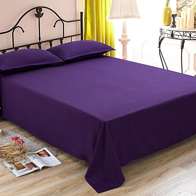 parure de lit 4 pi ces aubergine uni draps pas cher. Black Bedroom Furniture Sets. Home Design Ideas