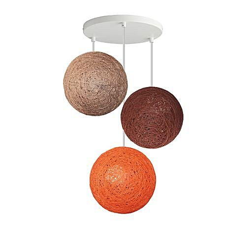 suspension 3 boules beige orange marron jumia tunisie. Black Bedroom Furniture Sets. Home Design Ideas