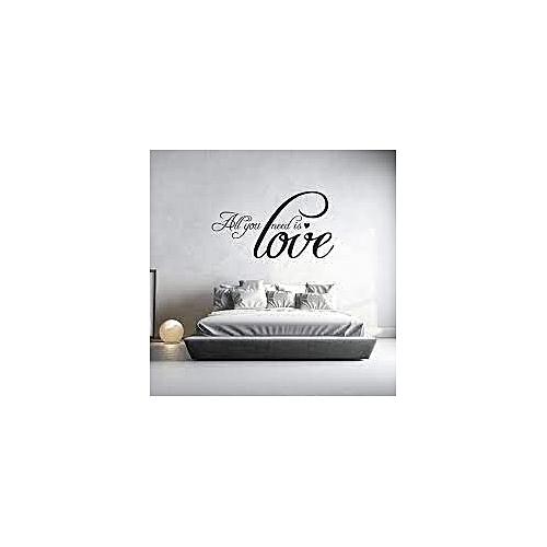 Sticker Chambre A Coucher Love   Noir